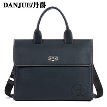 DANJUE  Genuine Leather Briefcase men handbag briefcases laptop bag genuine leather bags Shoulder Bag Tote Messenger bag 317