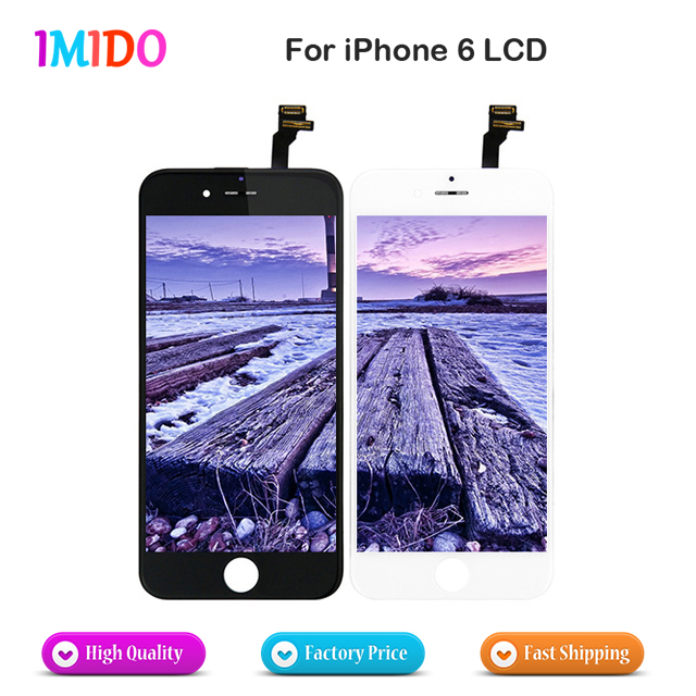 10PCS/LOT For iPhone 6 LCD for iPhone 6 lcd Display Touch Screen No Dead Pixel Digitizer Full Assembly Replacement AAA Quality-in Mobile Phone LCD Screens from Cellphones & Telecommunications    1