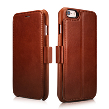 Роскошная натуральная кожа магнитной флип чехол для iPhone 6 6S/плюс держателя карты фоторамка кошелек случаи сотового телефона Корпус