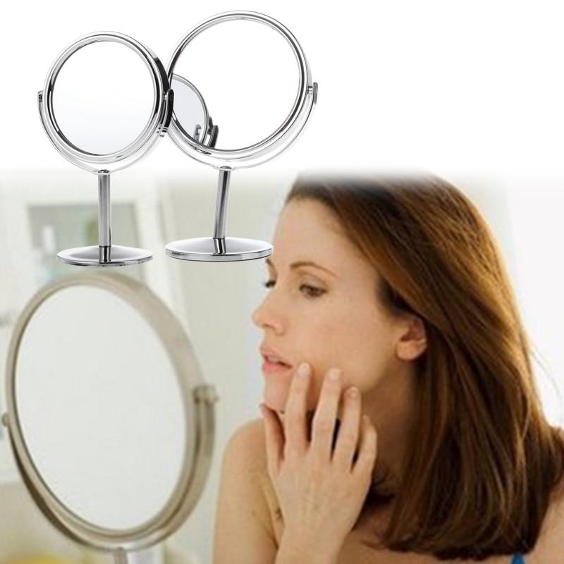 Haut Pflege Werkzeuge Frauen Schönheit Make-up Kosmetik Spiegel Doppelseitige Normalen 1x/3x Vergrößerungs Stehen Chrom Spiegel Körper Neue Schminkspiegel