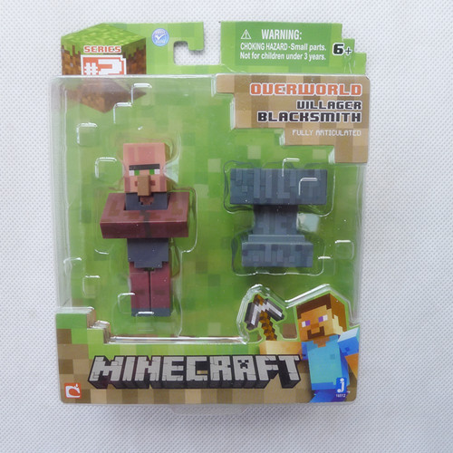 CC02--Brand New Minecraft Overworld Series 2 Villager Black Smith By Jazwares in Box