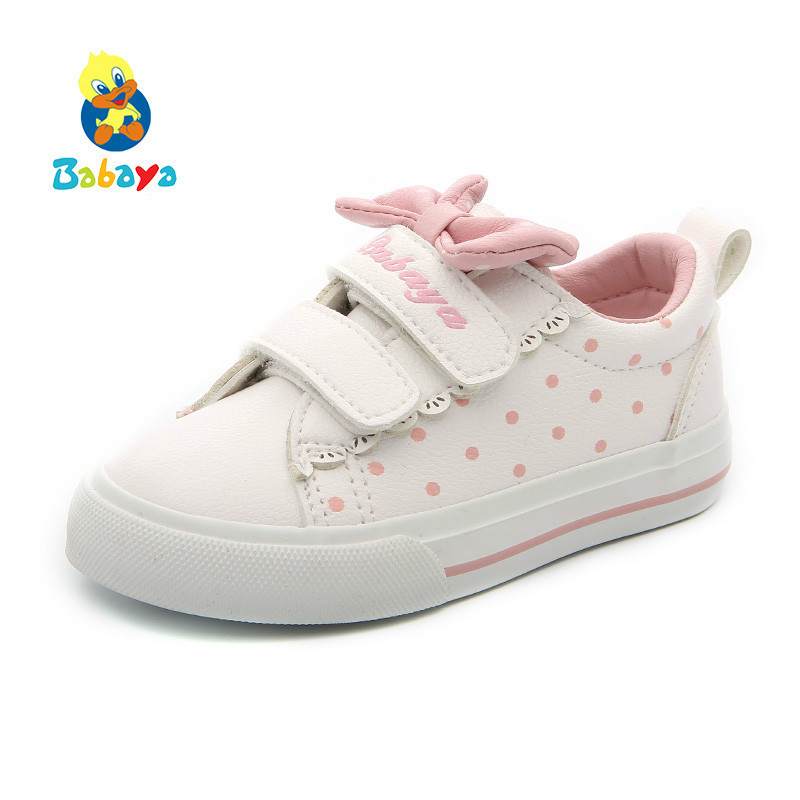 Shoes Baby-Girl Synthetic-Leather Casual New White Children Small 1-3-Years-Old