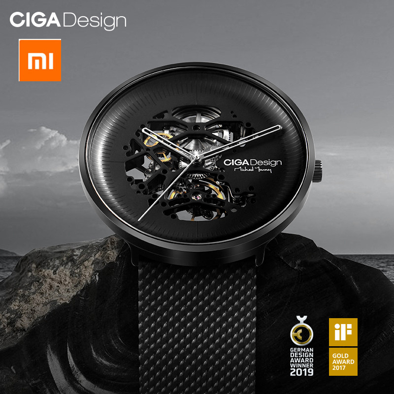 Xiaomi Mijia CIGA Design MY Series Men's Smart Watch Clock Automatic Mechanical Watch Hollowed-out Men Wrist Watch Mi Smartwatch