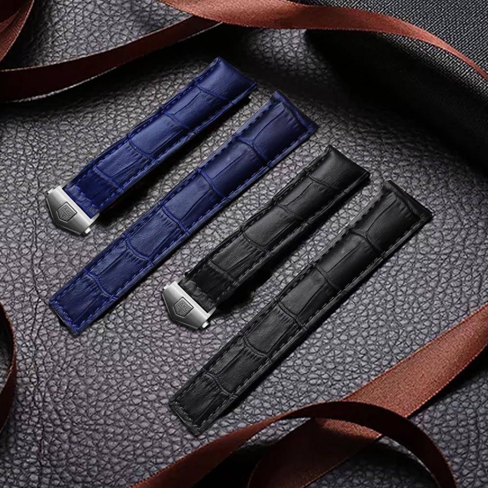 AKGLEADER Newest Genuine Crocodile Grain Leather Strap Band For Samsung Galaxy Watch S4 42mm 46mm Watchbands