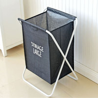 Multifunction Dirty Clothes Laundry Storage Hamper Portable Detachable Bucket Home Self Standing Storage Basket