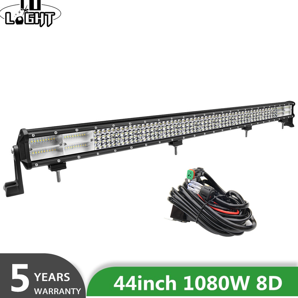 CO LIGHT 4 Row 44inch LED light bar 8D 1080W Led Work Light 12v 24v Spot