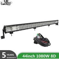 CO LIGHT 4 Row 44inch LED light bar 8D 1080W Led Work Light 12v 24v Spot Flood Combo LED Bar Offroad for Truck 4x4 4WD ATV Barra