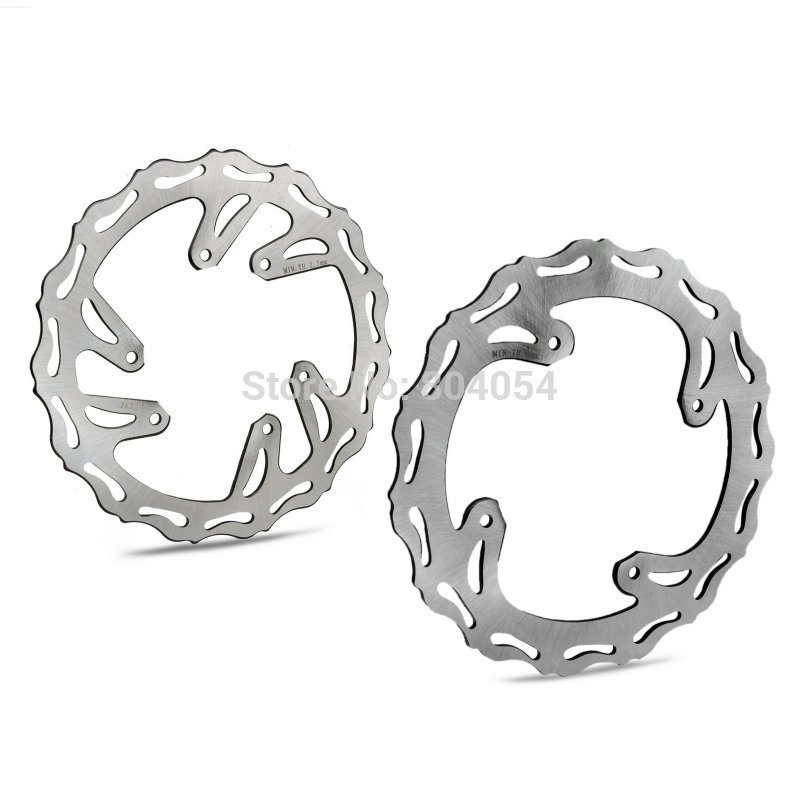 Motorcycle Front & Rear Brake Disc Rotor Kit For Honda CR125 CR250 2002 2003 2004 2005 2006 2007 2008