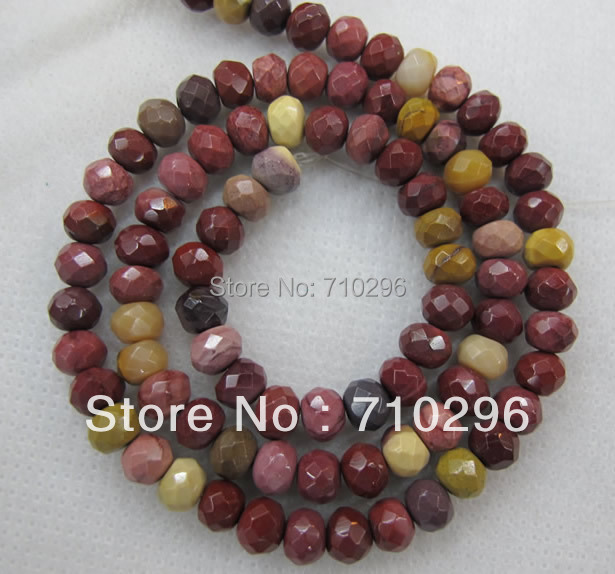 Genuine Mookaite gem stone loose beads 4x6 mm faeted