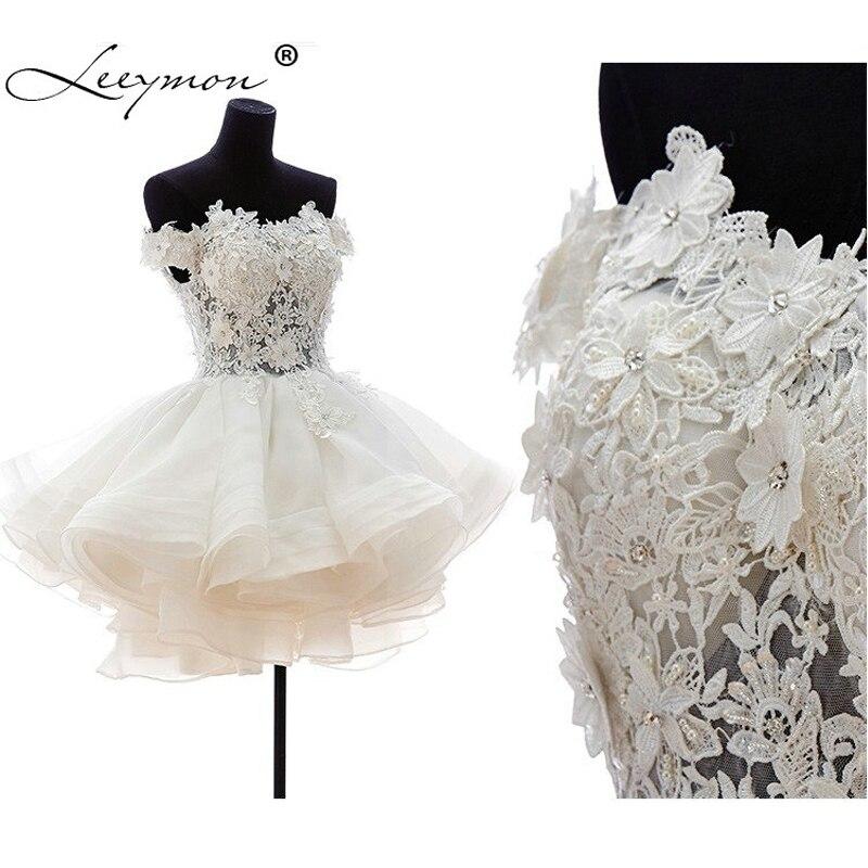 Off White Short Wedding Dresses   Real Sample New 2018 White Short Wedding Dresses Wedding Dress Off