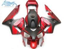 Kit de carenado de inyección de plástico ABS, compatible con Honda CBR600RR 03 04 CBR 600 RR 2003 2004, kits de carenado posventa, color rojo y negro NY04