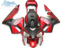 Wtrysk plastikowy abs zestaw do noszenia pasuje do Honda CBR600RR 03 04 CBR 600 RR 2003 2004 profile motocyklowe posprzedażowe zestawy czerwony czarny NY04