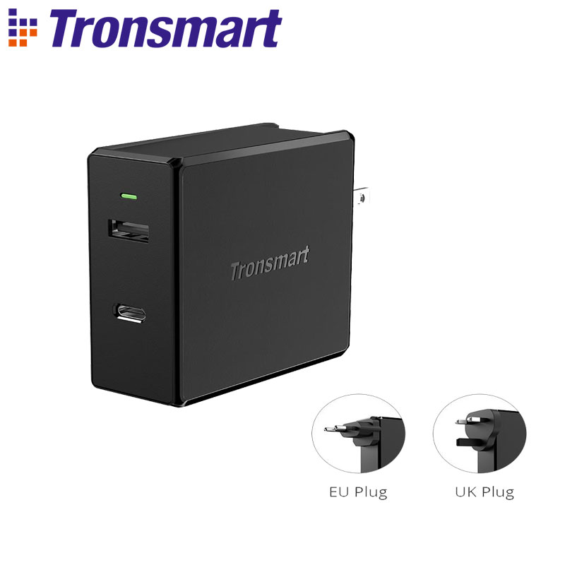 Tronsmart WCP03 57 W chargeur mural livraison 3.0 chargeur sans fil chargeur rapide USB chargeur Portable pour Xiaomi, Iphone