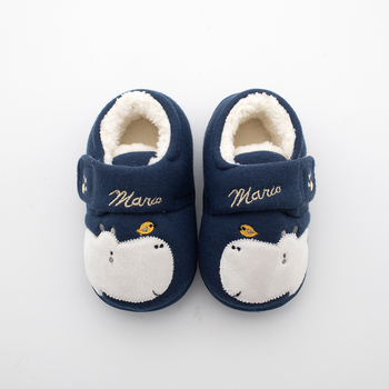 Baby Toddler Slippers Home Shoes Baby Cotton Slippers Non-slip Soft Bottom Indoor Girl Boy Slippers Kids Winter 1 3 6 Years