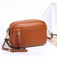 2019 New Women Bag Tassel Women Messenger Bag Small Shell Crossbody Bag Genuine Leather Fashion Designer Handbag