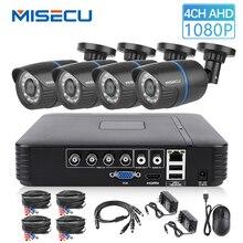 MISECU 4CH 5 1 DVR AHD ビデオ監視システムで 720 1080P 1080 1080P AHD カメラ屋外防水ホームビデオ監視システム HDD