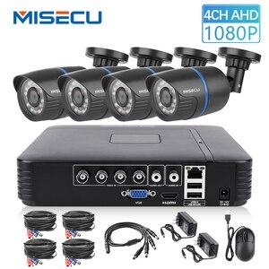 Image 1 - MISECU 4CH 5 1 DVR AHD ビデオ監視システムで 720 1080P 1080 1080P AHD カメラ屋外防水ホームビデオ監視システム HDD