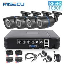 Sistema de vídeo vigilancia AHD MISECU 4CH 5 en 1 DVR 720P 1080P AHD Cámara al aire libre impermeable Sistema de videovigilancia HDD para el hogar