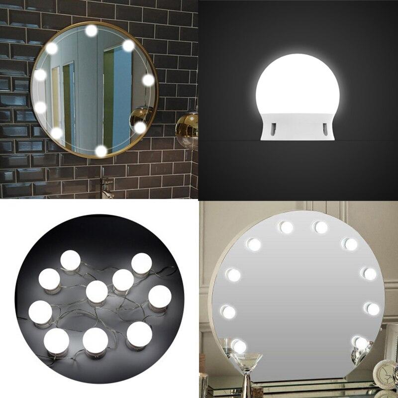 Led mirror light Hollywood makeup mirror LED bulb makeup fill light makeup powder lipstick lamp waterproof bathroom lamp