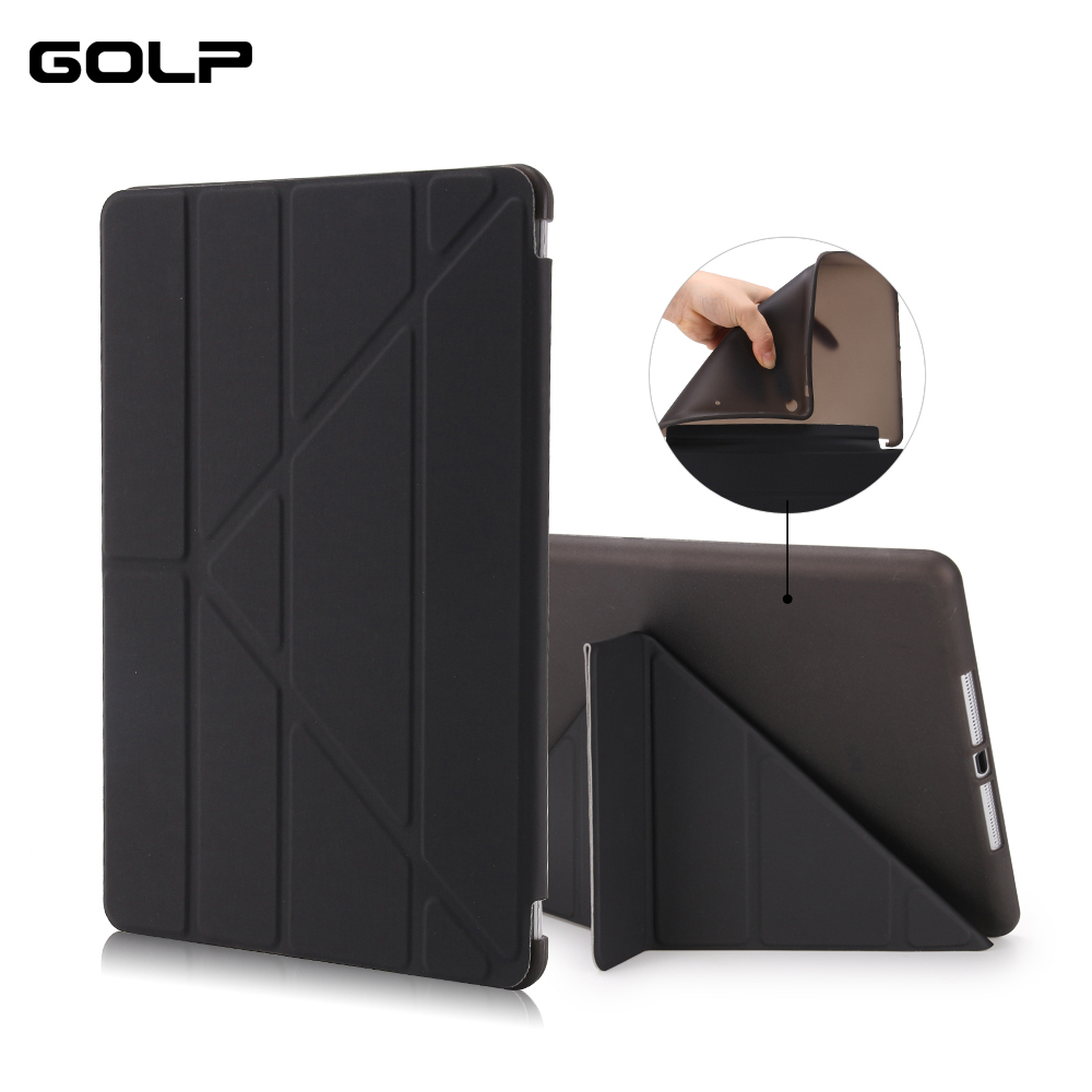 For Apple iPad Air 1 Case, GOLP PC Flip case for ipad 5 +TPU back cover For iPad Air Tablet Case, Smart cover and holder stand nice soft silicone back magnetic smart pu leather case for apple 2017 ipad air 1 cover new slim thin flip tpu protective case
