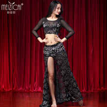 2018 Bellydance Costume top skirt suits New Hot Sale Women Belly Dance suits Performance Wear Long