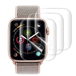 Image 1 - 2PCS 9D מלא מעוגל רך מזג זכוכית עבור Apple שעון 38 40 42 44 mm מסך מגן על אני שעון 4 5 מגן זכוכית סרט