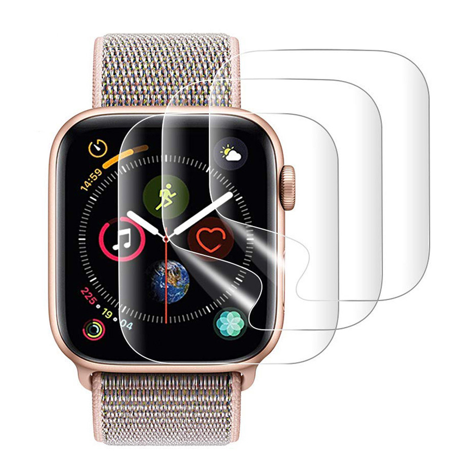 2PCS 9D Full Curved Soft Tempered Glass For Apple Watch 38 40 42 44 Mm Screen Protector On I Watch 4 5 Protective Glass Film