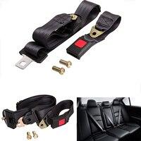 Universal 3 Point Auto Vehicle Car Seat Belt Lap Extension Extender Adjustable Safety Belts Retractable Black