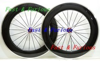 New 2015 Chinese Carbon Wheels Aluminum Alloy BrakeSurface 700c 88mm Carbon Fibre Wheels Bike Road Wheelset