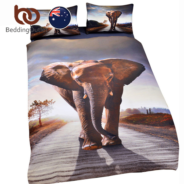 Beddingoutlet Afrika Elefanten Bettbezug Set Mandala Bettwäsche