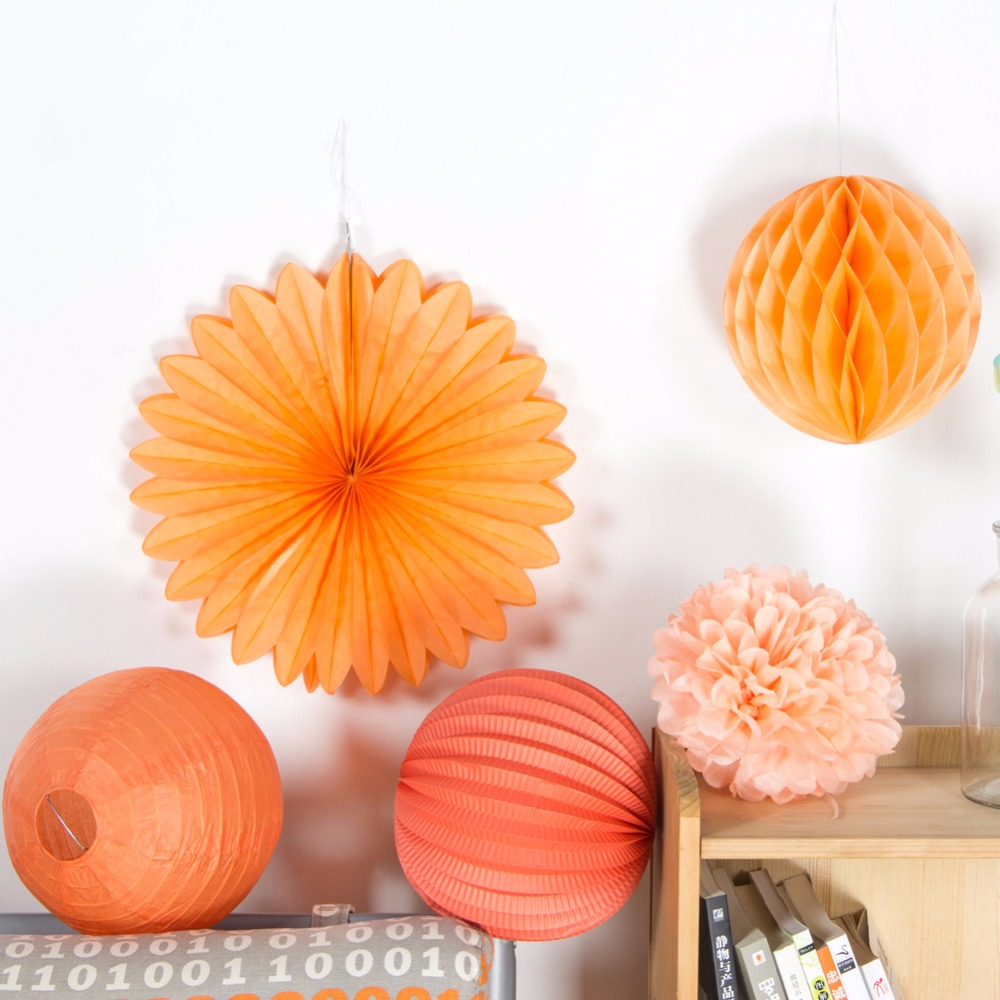5шт Персиковий партійний декор Набір - Святкові та вечірні предмети