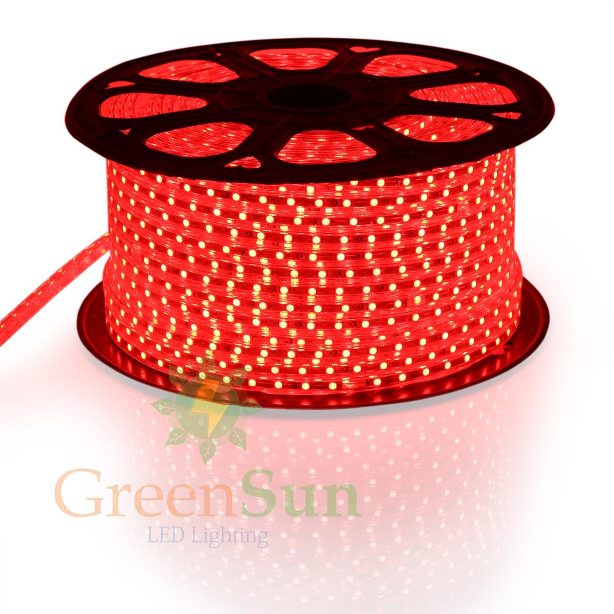Red Color LED Strip Light 20-100M 60 LEDs/ meter Ultra Bright 5050 SMD LED Outdoor Garden Home Strip Rope Light Waterproof 0 9m smd 3528 90 leds waterproof led rope light festival lighting