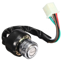 TOYL Universal 3 Position Car Motorcycle Scooter Go-Kart 6 Wire Ignition Switch 2 Key