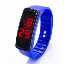 2018 Fashion Digital LED Display Sports Jelly Silicone Band Men Women Wrist Watch все цены
