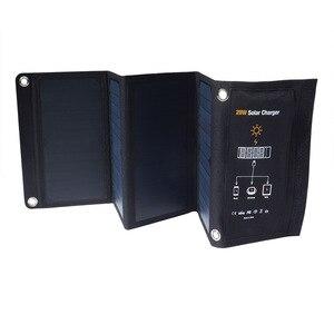Image 3 - KERNUAP 15W 21W 28W 휴대용 태양 열 충전기 휴대 전화 캠핑 여행 Foldable Sunpower 패널 듀얼 USB 포트로 충전