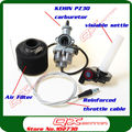 KEIHIN 30mm PZ30  Carburetor  Visiable Transparent Throttle Settle  Cable irbis Air Filter set