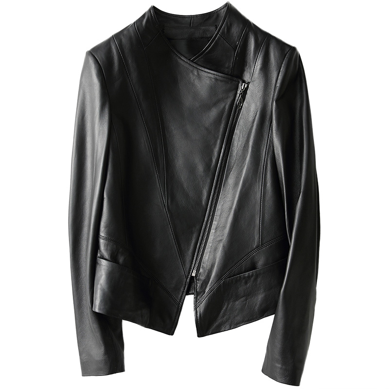 Femmes Naturel Noir 100 Femelle 2018 Réel Xq017 De Jaqueta Véritable Vestes Manteau Outwear Pour Couro En Peau Mince Cuir Mouton Veste Courte C44wZ1x