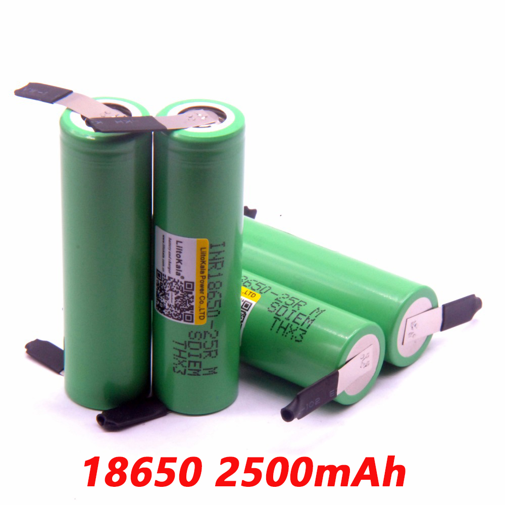 2019 4pcs <font><b>liitokala</b></font> <font><b>18650</b></font> 2500mah lithium battery INR18650-<font><b>25R</b></font> 20a battery +Free shipping image