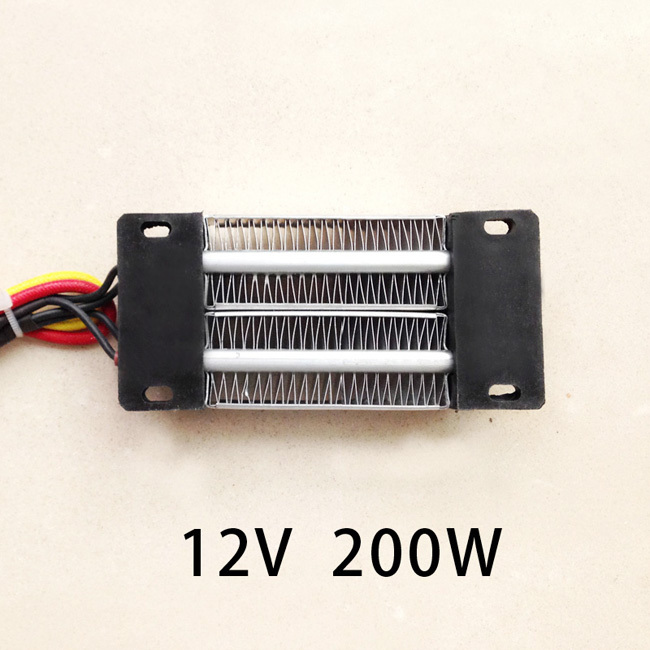 200W AC/DC 12V Insulated PTC ceramic air heater constant temperature heating element incubator 120*50mm ptc ceramic air heater constant temperature heating element 200w 24v 120 50