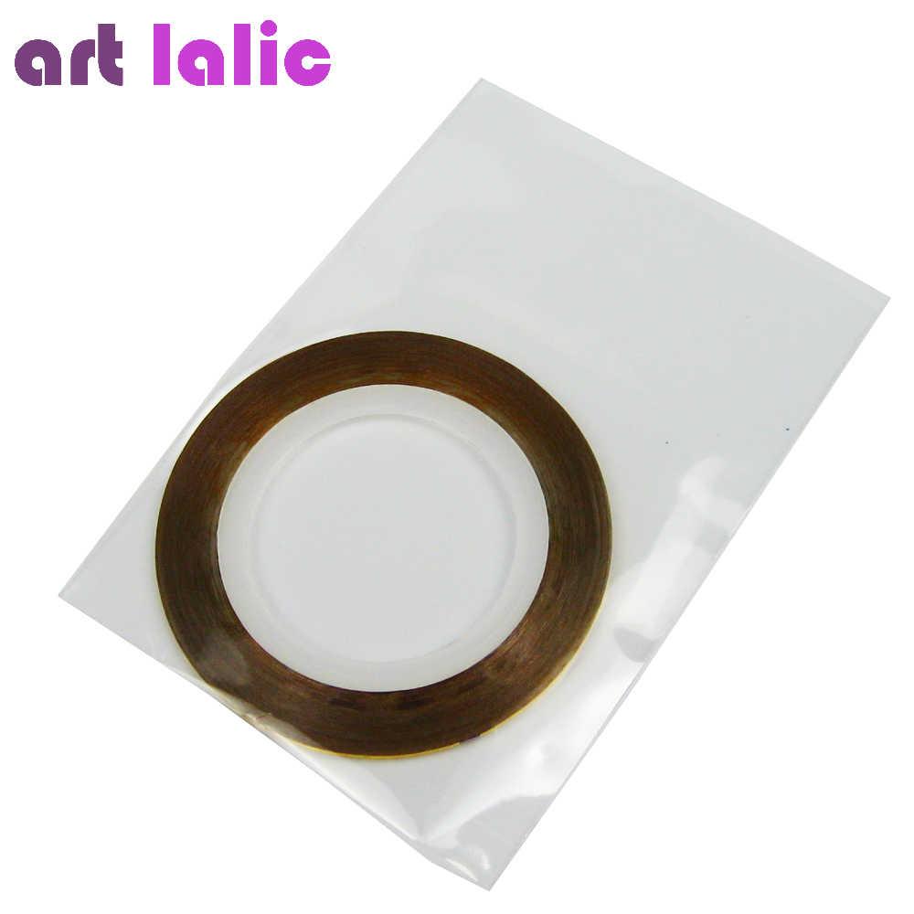 1 folha striping fita linha da arte do prego adesivo decalques decoração diy polonês glitter uv gel acrílico unhas dicas escolher cores