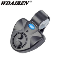 Wdairen 낚시 e1 물고기 물린 경보 시끄러운 사이렌 주간 야간 표시기와 낚시 막대에 전자 버저