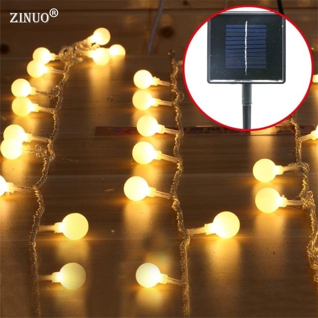 ZINUO 5M 40pcs Ball Solar Garland Balls Garden String Light Outdoor Fairy  Solar String Patio Lantern