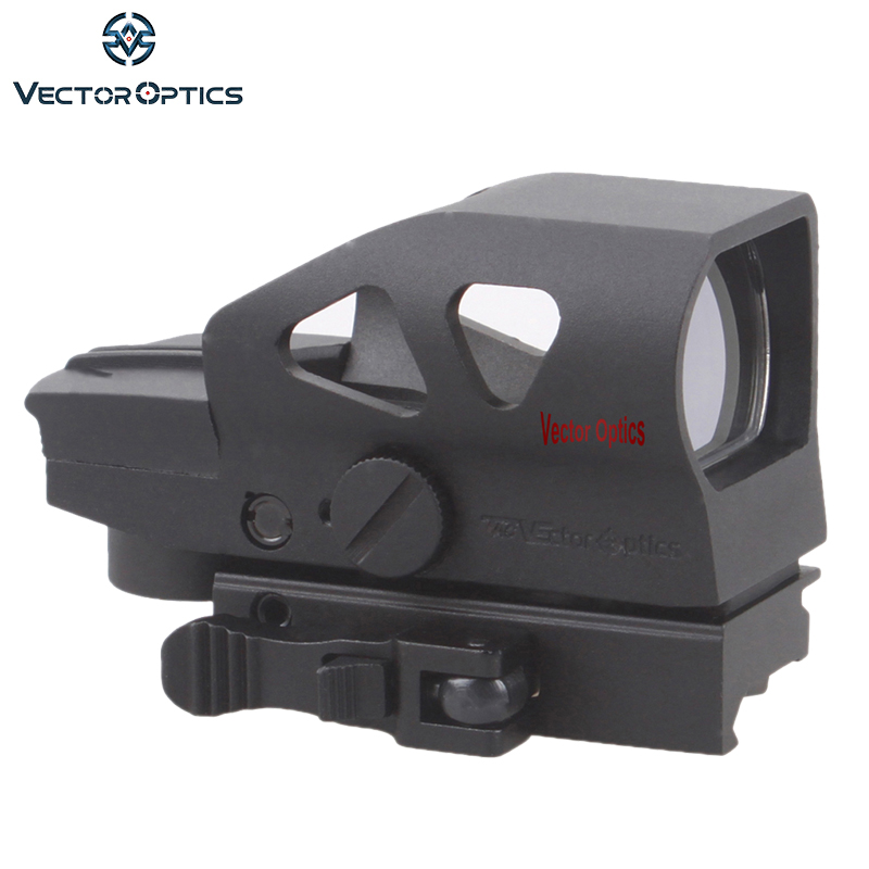 Vector Optics Gen2 Ratchet 1x23x34 Hunting Red Green Dot Scope 4 Reticle Open Sight with Picatinny Mount for AK 5.56 12ga .308 vector optics sentinel 4 16x50 e sf hunting rifle scope mp reticle long eye relief gun sight with mount ring honeycomb sunshade