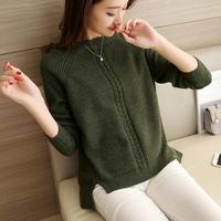 2017 Winter Women S Blouses Pullover Long Sleeve O Neck Slim Women Knitted Sweater For Women