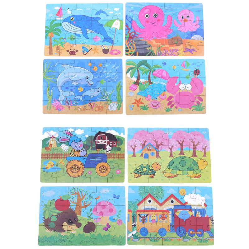 Железный ящик упаковки головоломки комплект четыре в одном детском саду деревянные головоломки подарок Игрушечные лошадки образования де...