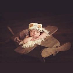 Neugeborenen Fotografie Zubehör Distressed Holz Abnehmbare Flugzeug für Baby Foto Posiert Requisiten für Jungen Schießen Bebe Photographie