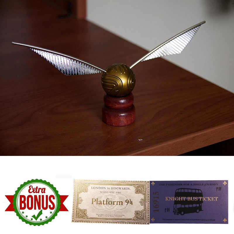 Harri Potter Quidditch Golden Snitch Hogwarts London Express Replica Train Ticket and Knight Bus Ticket Kit Toys for Boys