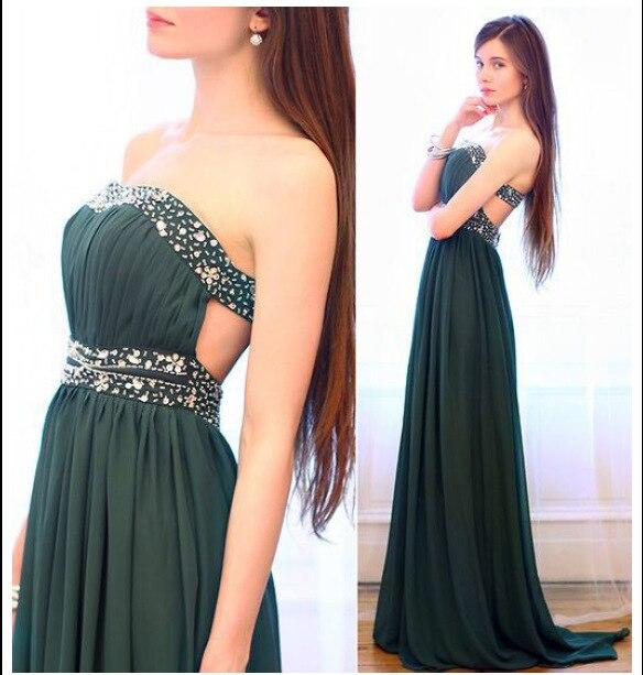 free shipping 2019 new hot Custom handmade vestidos de festa beading crystal party beach prom sexy long   bridesmaid     dresses