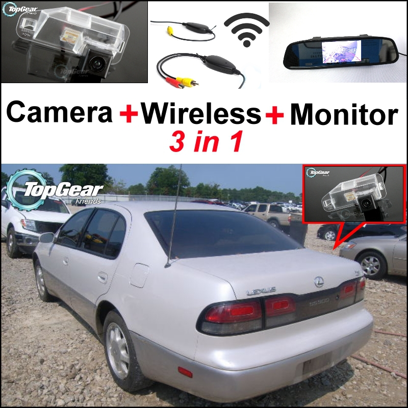 3 in1 Special Rear View Camera + Wireless Receiver + <font><b>Mirror</b></font> Monitor Easy Backup Parking System For <font><b>Lexus</b></font> <font><b>GS300</b></font> 1991~1998 image