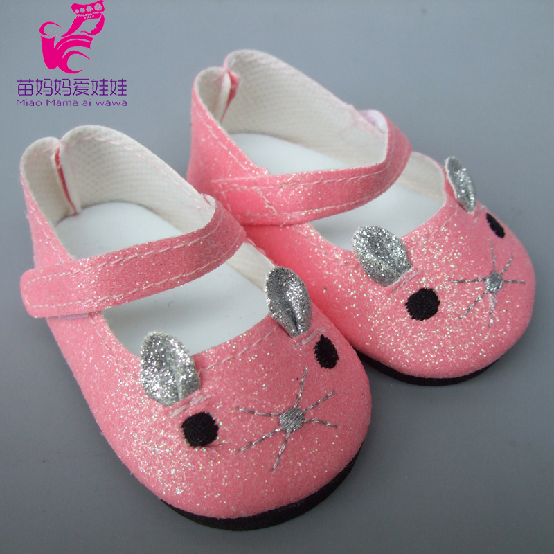 Toy Gift 18 inch 45cm American Girl doll 7cm Doll Shoes Mini Leather Shoes For 43CM zapf baby born Dolls